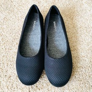 Baubax Women's Dressy Flats Sz 6 Blk NWOT